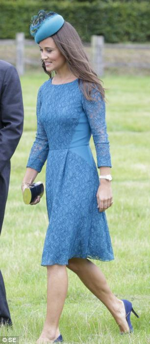 Pippa Middleton opted to wear blue
