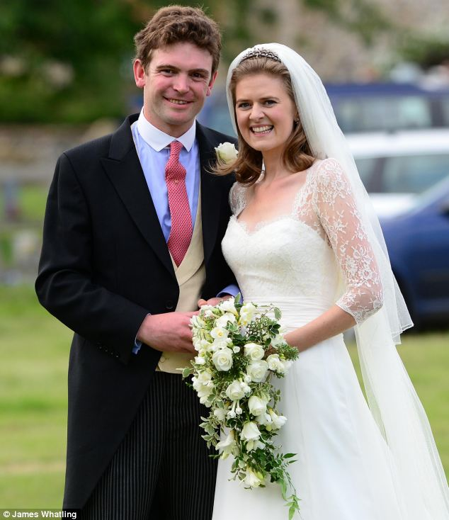Lady Laura Marsham married James Meade this afternoon - and were watched by friends and family and cheered on by wellwishers