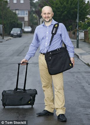 One size fits all: Alistair Callender with his cabin bags