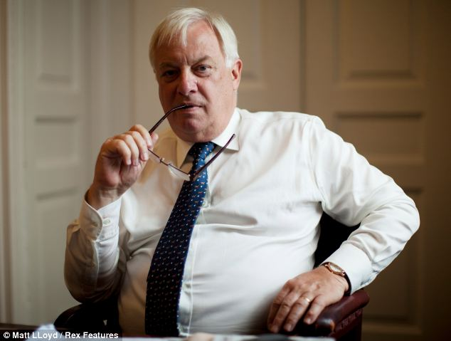 John Whittingdale, Tory chairman of the Culture, Media and Sport select committee, said he was planning to grill BBC Chairman Chris Patten (picturec)