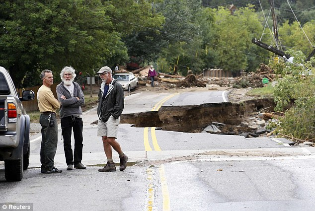 Damage: An estimated $150 million of repair work will be needed to fix roads and bridges that have been washed away