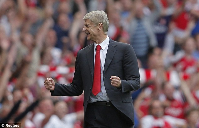 Making his case: Arsene Wenger wants the away goals rule to be abolished