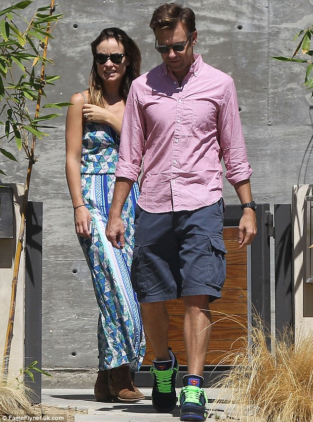 House hunting: Jason Sudeikis and Olivia Wilde were spotted viewing properties in Los Angeles