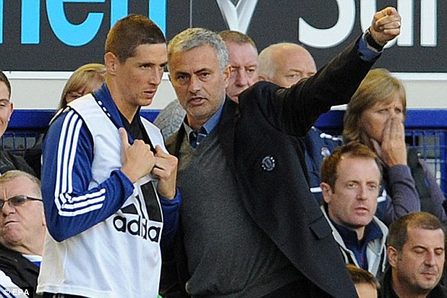 Uninspiring: Fernando Torres was thrown on, but he made just eight touches in over 20 minutes