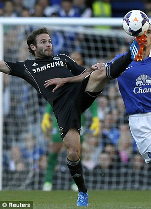 Benched: Mourinho hooked Juan Mata (left) and Andre Schurrle (right) off before the hour mark