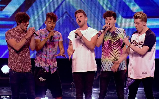 Treasure: The East London boyband performed the Bruno Mars track in Sunday night's show