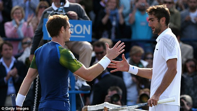 Beaten: Cilic lost to Andy Murray in the final of the AEGON Championships at Queens Club