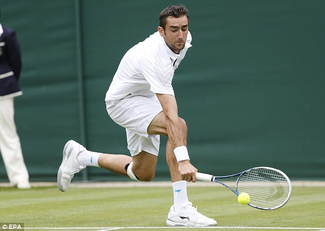 Withdrawal: Cilic pulled out of Wimbledon after his first round match, citing a knee injury