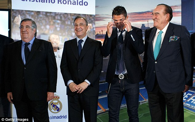 Top spec: Ronaldo has just signed a new £76million five-year deal at the Bernabeu