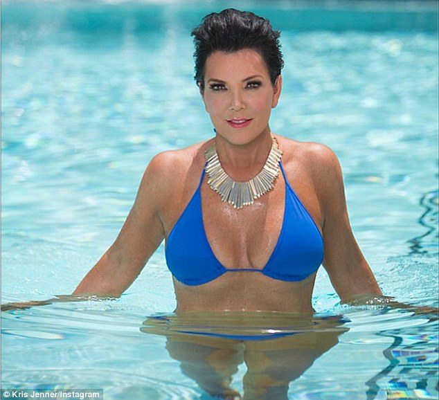 Anything you can do: Kris Jenner posted a snap of herself in a blue bikini on Instagram on Sunday