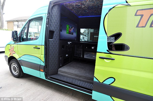 The band have been touring in this customized van