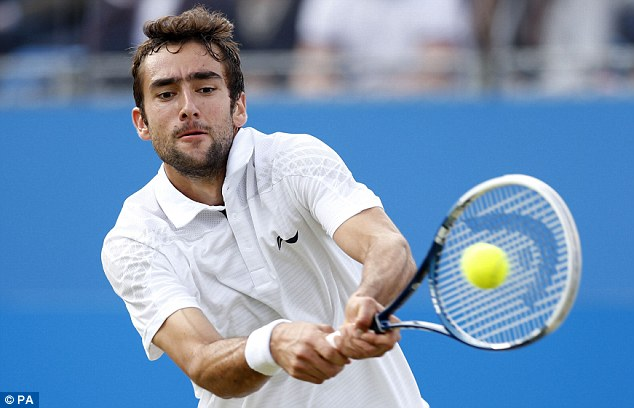Banned: Marin Cilic has been suspended for nine months after testing positive for a banned stimulant