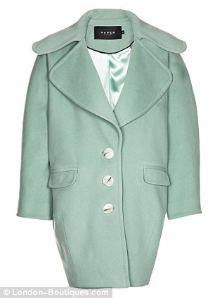 Mint wool over size coat by Paper London, £545