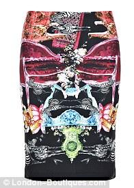 Clover Canyon animal house neoprene skirt, £185