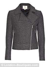 Sara Berman for Trilogy Tweed Biker Jacket, £245