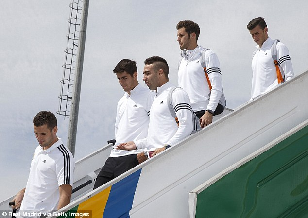 Galacticos: Real Madrid's squad touch down in Turkey for Tuesday's group stage clash in the capital