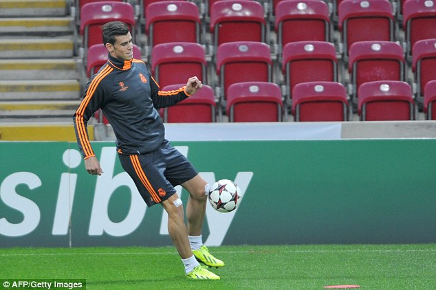 Keep it up: Bale is preparing to take part in the Champions League match against Galatasaray