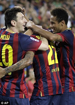 Lionel Messi and Neymar