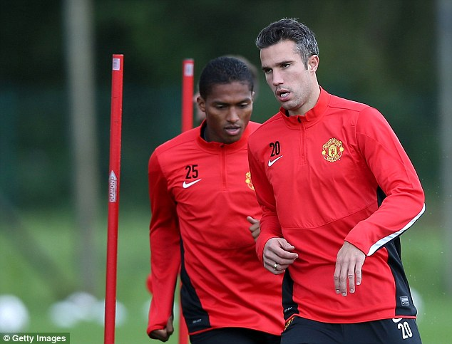 Time to shine: Robin van Persie is preparing to take his fine domestic form to the Champions League