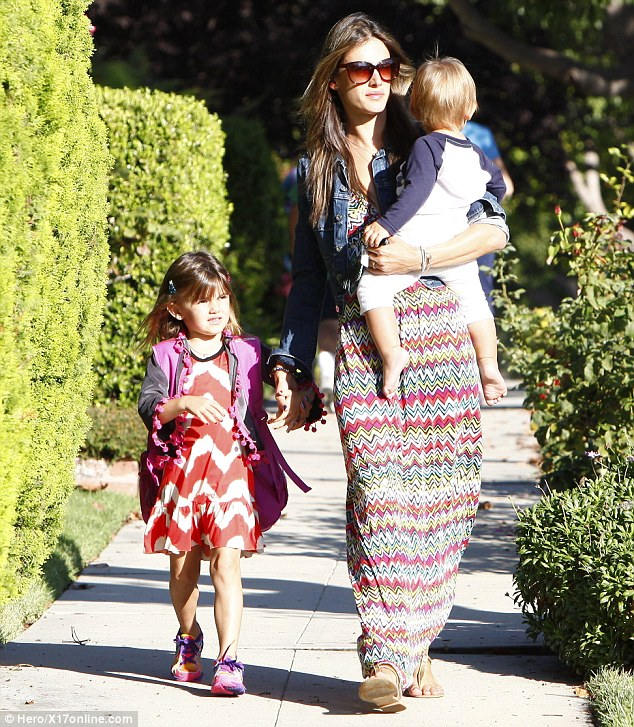 Loves the routine: The supermodel enjoyed her week at New York Fashion Week but seemed content being back on the Mommy beat