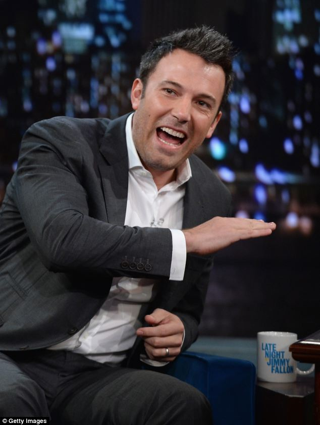 Still laughing: The Oscar-winner joked about previous Batman actors receiving responses such as 'Kill him' in the interview with Jimmy Fallon