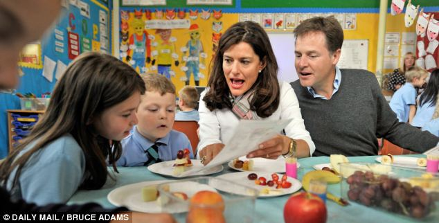 Learning: Pupils who eat a free school meal were two months ahead of children who did not in pilot schemes