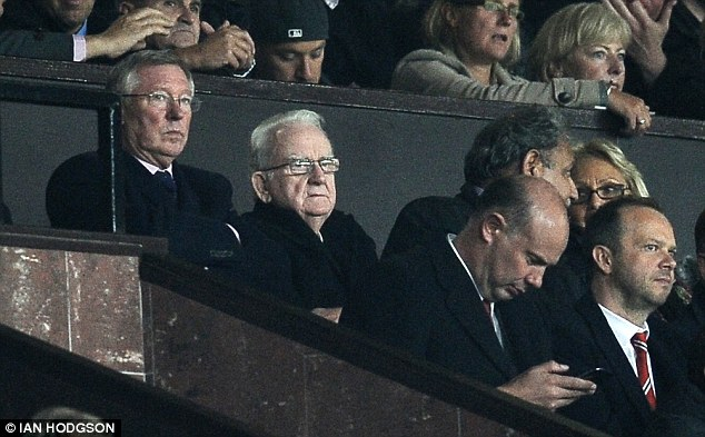 Tension: Sir Alex Ferguson, who was at the game, clashed with the England striker last season