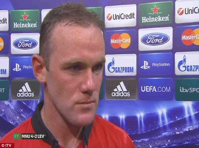 Anger: Wayne Rooney reacted angrily to ITV's persistent questions about his link with an exit this summer