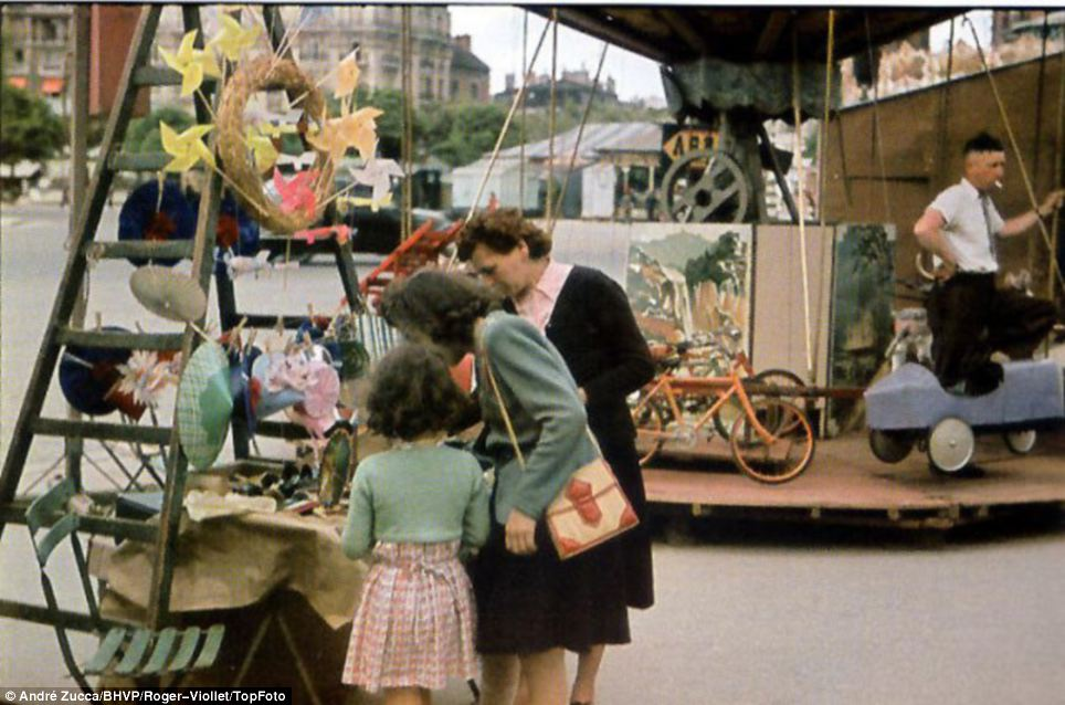 Beautiful: Paris is portrayed as calm and relaxed and untouched by the ravages of the Second World War that was raging across Europe