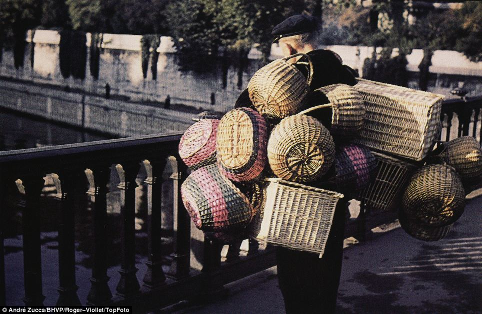 Basket case: Zucca was a successful photojournalist before the war and his work was published in eminent magazines such as Paris Match