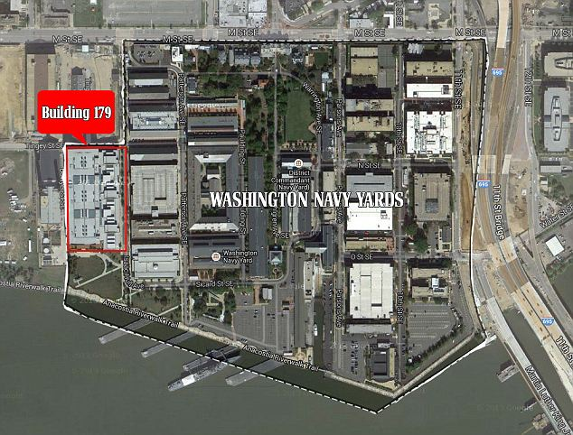 His target: The shooting took place inside Building 179 at the D. C. Navy Yards