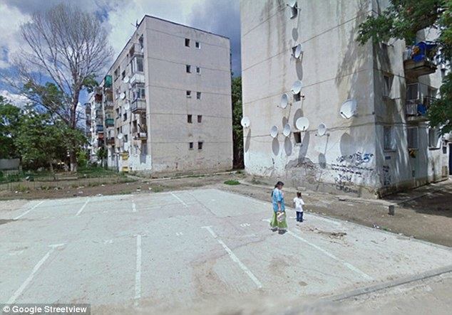 Run down: The Romanian capital Bucharest has its fair share of no-go areas. This is Ferentari, a well known base for drug dealers, prostitution and the mob