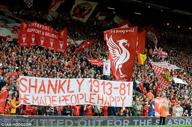 Belief: The Liverpool faithful are never far from dreaming about a first league title since 1990