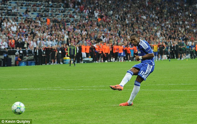 Winner: Didier Drogba was the man for the big occasion... the Chelsea striker was simply incredible