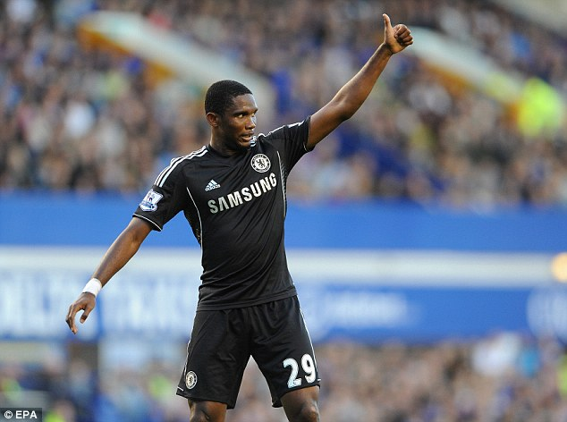 Counting down: The pressure is already on for Samuel Eto'o after he failed to score against Everton
