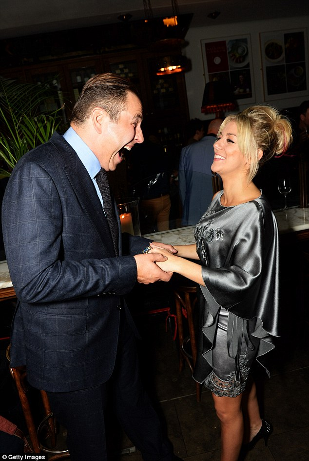 Duel celebration:  David and Sheridan  attend the afterparty for Midsummer Nights Dream at The National Gallery