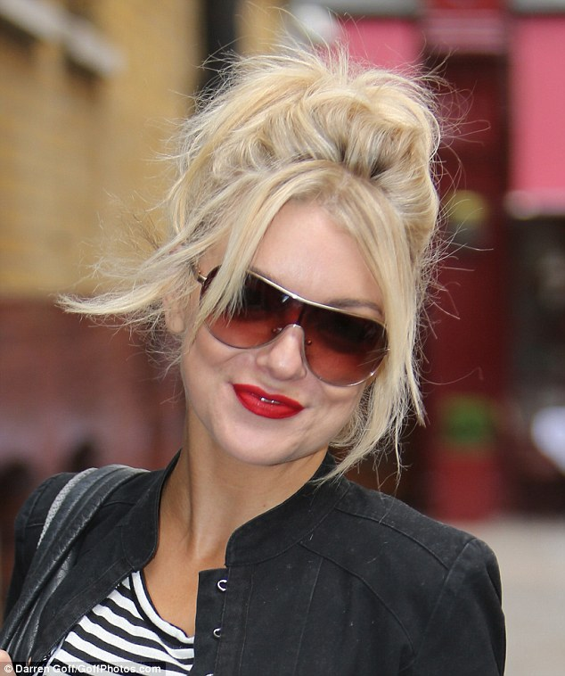 Happy glow: The blonde star was seen on her way to the theatre where she earned rave reviews