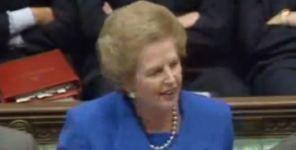 Margaret Thatcher declared 'no, no, no' in 1990
