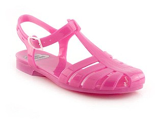 Jelly shoes are of course no good for the autumn chill