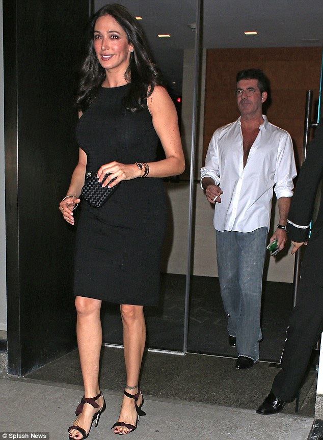 Keeping the evening going: Cowell was later seen taking Lauren for a meal at Carbone in Greenwich Village