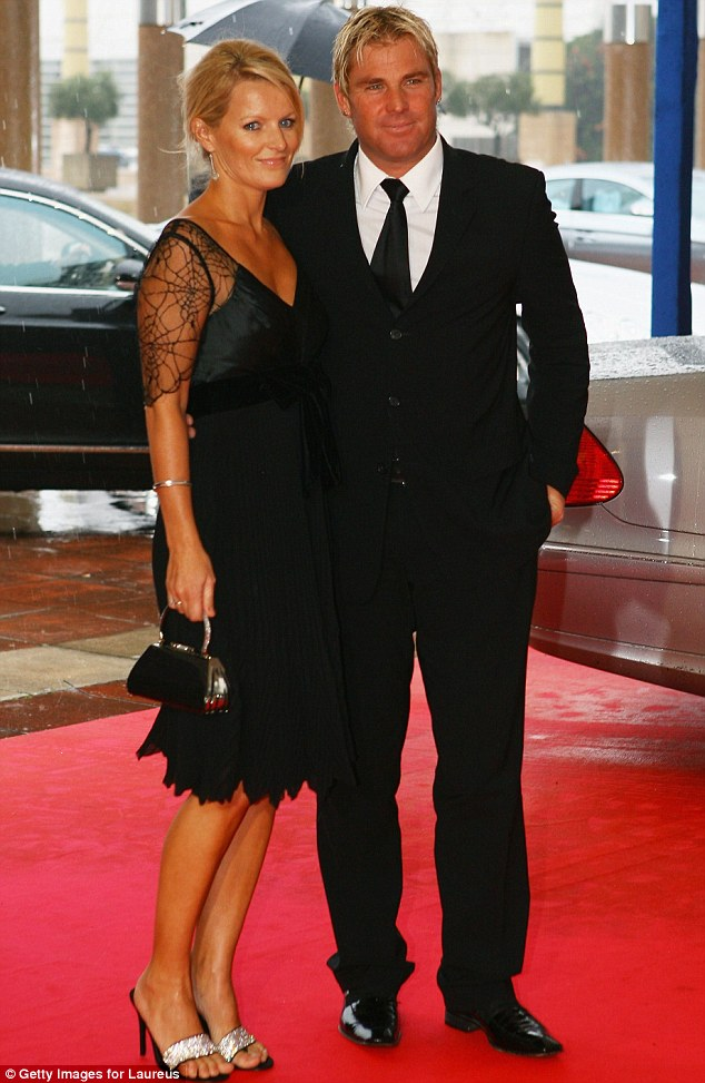 Ex: It is thought Shane's relationship with his ex wife Simone (pictured here in 2007) was causing problems