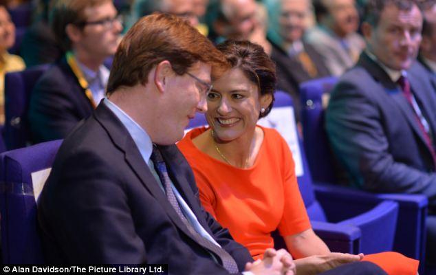 Oh you are funny: Miriam González Durántez shares a joke with Chief Secretary to the Treasury Danny Alexander