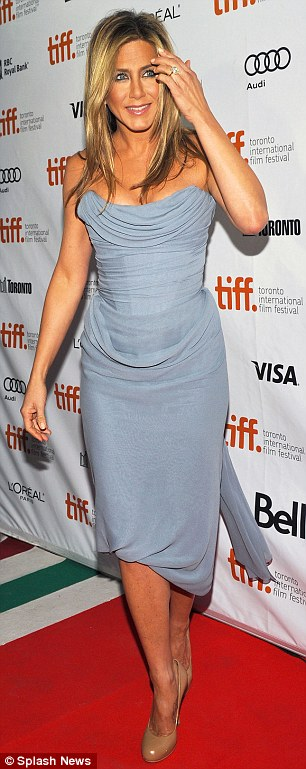 Her red carpet turns: On Saturday the star chose a grey Vivienne Westwood gown for the Life Of Crime premiere in Toronto while at the Millers showing she slipped into a purple Burberry number