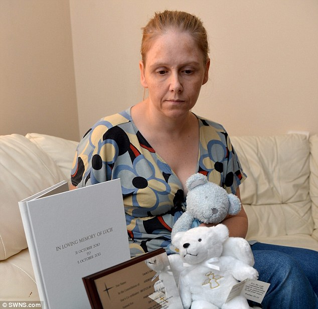 Bereft: Angie Collins whose daughter Lucie died after a long wait in a surgery the family had not registered in