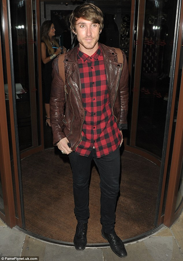Here come the boys! Former X Factor star Kye Sones was on hand to celebrate the big night