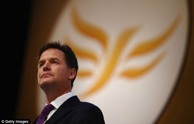 The Lib Dems, led by Nick Clegg, have the fewest number of female MPs of any major party with just 12 per cent