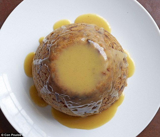 Steamed date pudding with butterscotch sauce