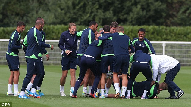 Having a laugh: Even boss AVB was involved in the resulting bundle