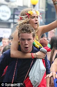 Will Poulter (with Cara at Notting Hill Carnival)