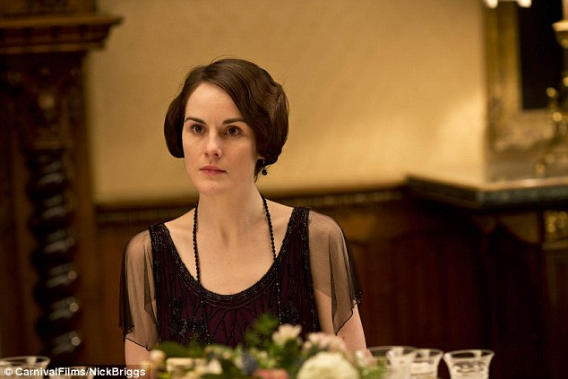 Grieving: Michelle Dockery returns as Lady Mary